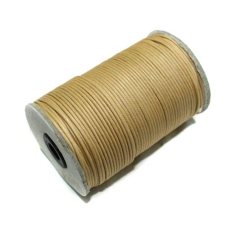 100 Mtrs. Jewellery Making Cotton Cord Beige 2mm