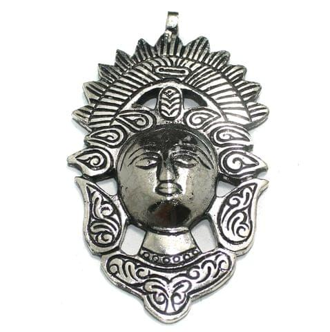 1 Pc German Silver Adam Pendant Silver