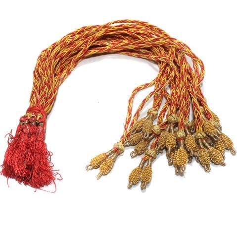 1 Dozen Salma Neckalce Dori Golden Red