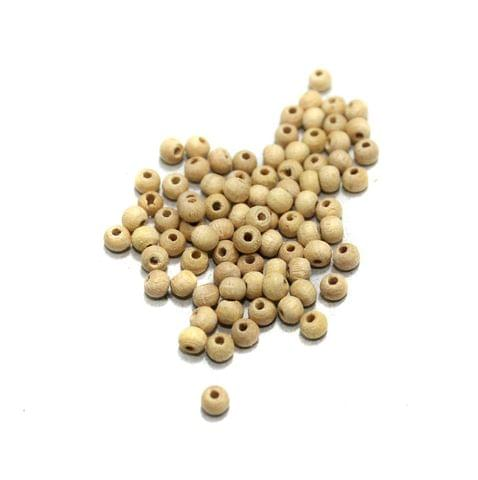 500 Pcs Wooden Beads Round Natural 4mm