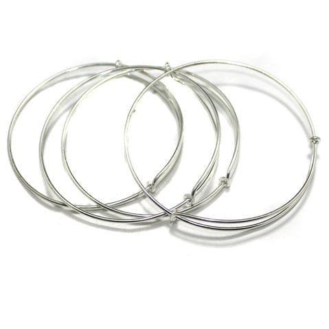 4 Pcs Bangle Base Silver Free Size
