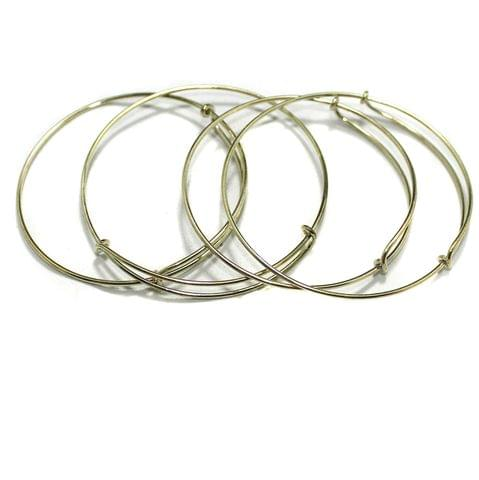 4 Pcs Bangle Base Golden Free Size