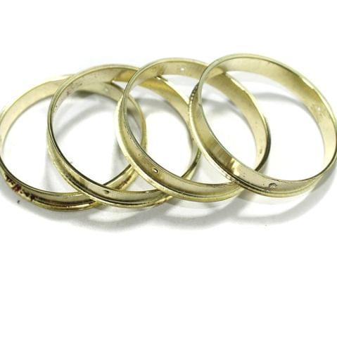 4 Pcs Bangle Base Golden 2`2