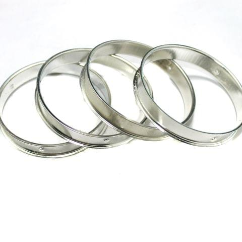 4 Pcs Bangle Base Silver 2`4