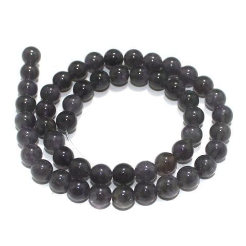8mm Amethyst Gemstone Beads 1 String