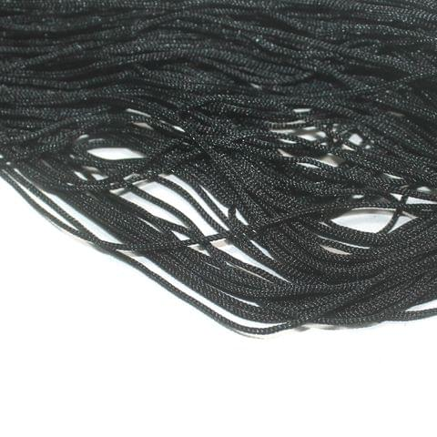 Black Plain Satin Thread 1mm, For Jewellery Making, Craft