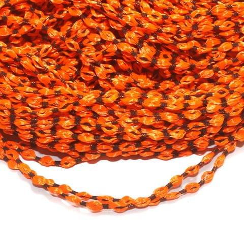 Orange Satin Thread 4mm, For Jewellery Making, Craft