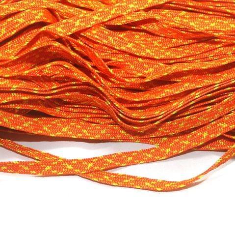 Orange Flat Satin Thread 7mm, For Jewellery Making, Craft
