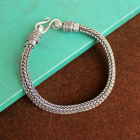 German Silver Braid Bracelet