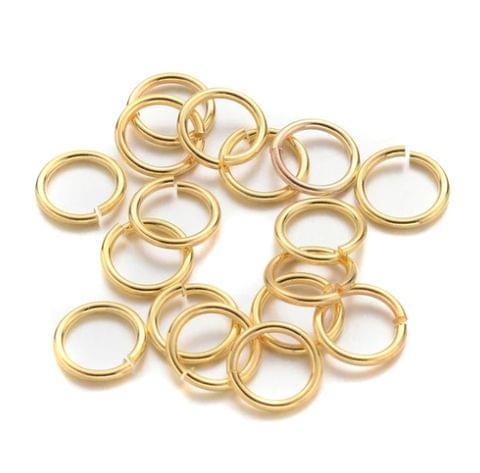 700 Pcs Golden Jump Rings 10mm