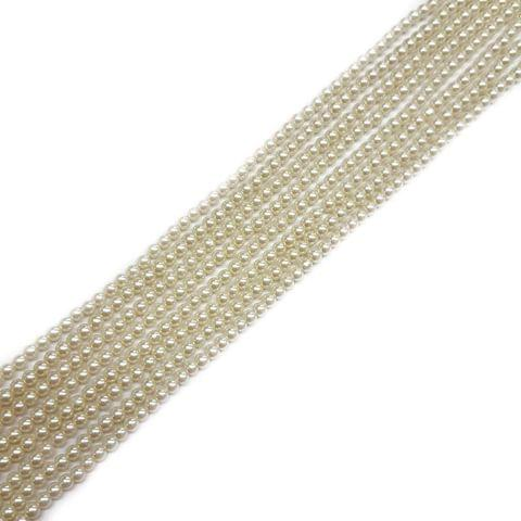 3mm, 4 strands, AA Quality Shell Pearls, 16 inches, 135+ Beads In Each Strand