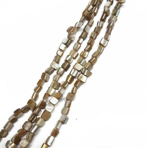 5-7mm, 2 strands, Mother Of Pearls Shell, 16 inches, 50+ Beads In Each Strand