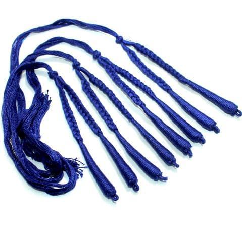 4 Pcs Blue Braided Thread Dori