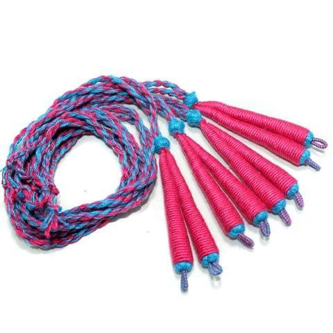 4 Pcs Magenta Braided Thread Dori