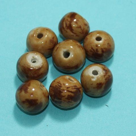 18 Pcs Ceramic Beads Assorted 13x16 mm