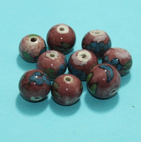 36 Pcs Ceramic Beads Assorted 16x18 mm