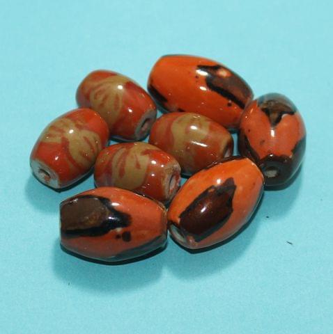 27 Pcs Ceramic Beads Assorted 23-19 mm