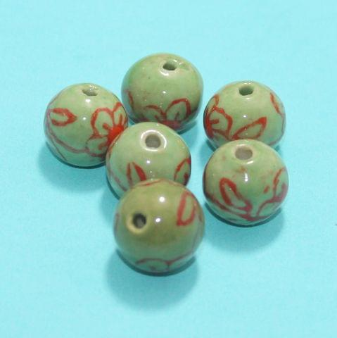 28 Pcs Ceramic Beads Assorted 9x17 mm