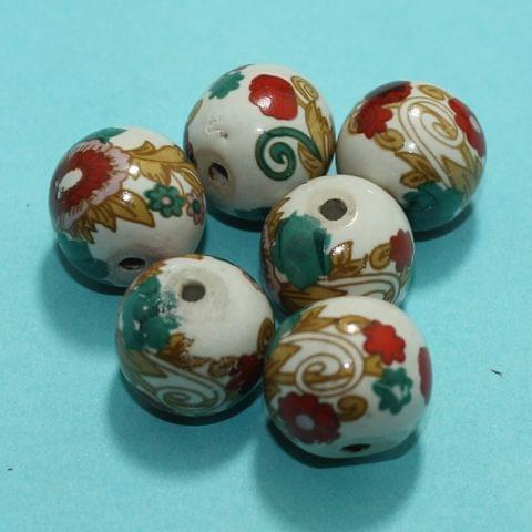 32 Pcs Ceramic Beads  Assorted 19x21 mm