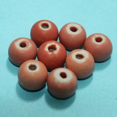50 Pcs Ceramic Beads Matte Finish Assorted 11x14 mm