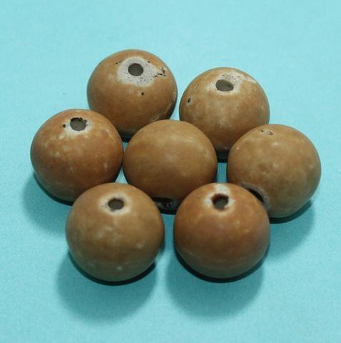 50 Pcs Ceramic Beads Matte Finish Assorted 18x20 mm