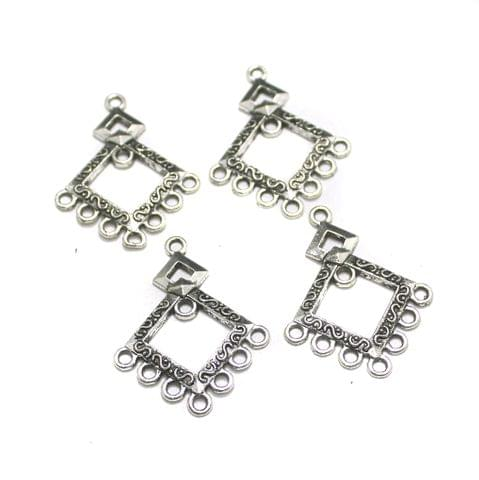 5 Pairs Silver Earring Components 40mm