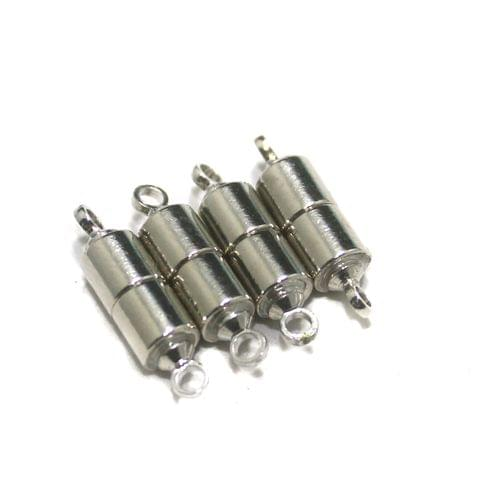 5 Pcs Silver Magnetic Clasps, Size 16x5mm