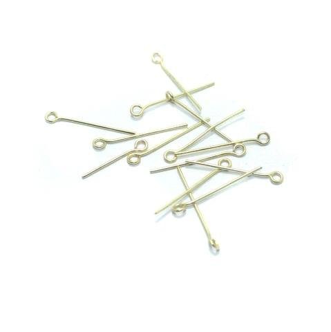 100 Gm Metal Golden Eye Pins 1.5 Inch