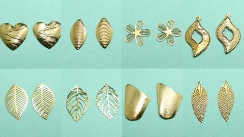 8 Pairs Gold Plated Earrings Components
