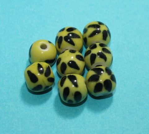 50 Pcs Ceramic Round Beads 14mm