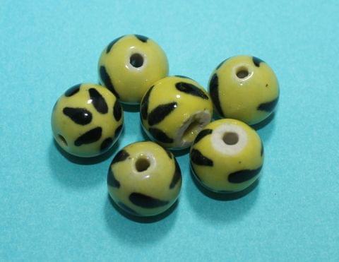 20 Pcs Ceramic Round Beads 17mm