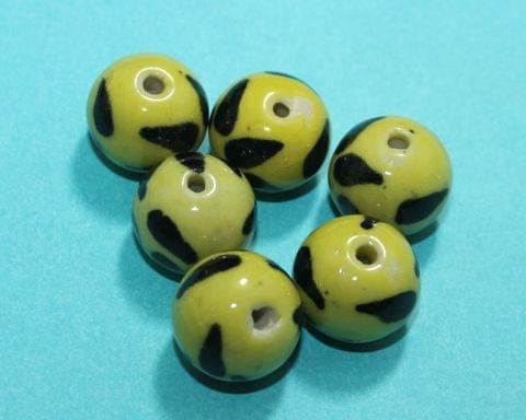 20 Pcs Ceramic Round Beads 21mm