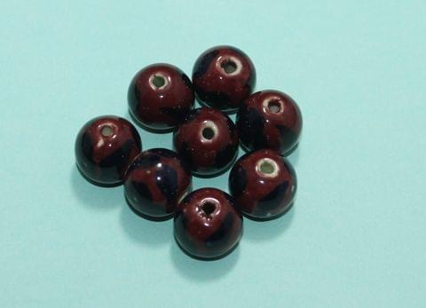 20 Pcs Ceramic Round Beads 15mm