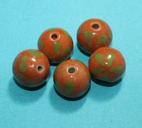 20 Pcs Ceramic Round Beads 12mm