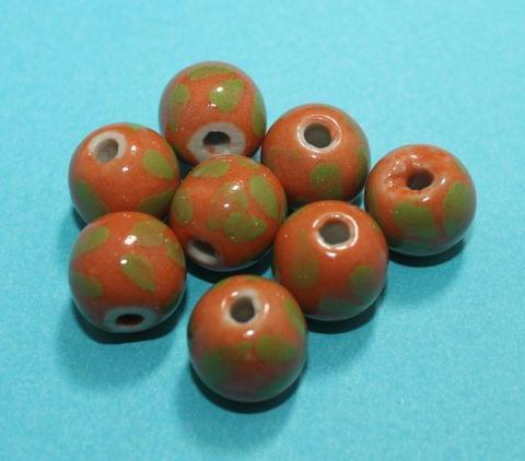 20 Pcs Ceramic Round Beads 16mm