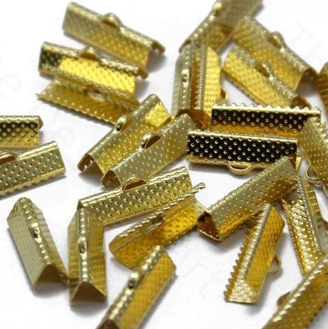 20 Pcs Golden Crimp Ends 13mm