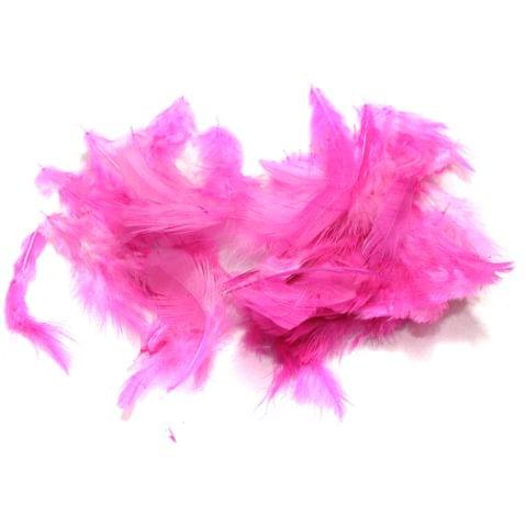 100 Jewellery Making Feather Pink
