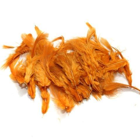 100 Jewellery Making Feather Dark Orange