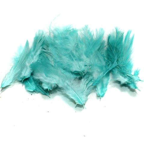 100 Jewellery Making Feather Turquoise