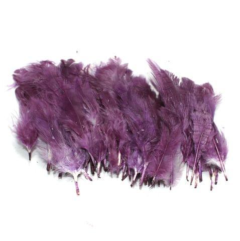 100 Jewellery Making Feather Purple