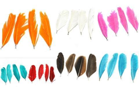 70 Pcs Premium Jewellery Making Feathers Combo