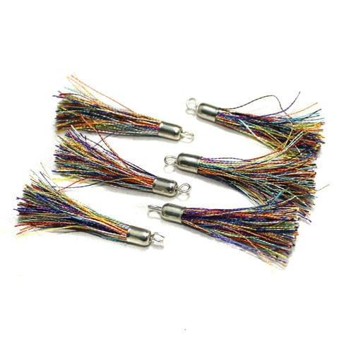100 Pcs Silk Thread Tassels Multi, Size 2 Inches