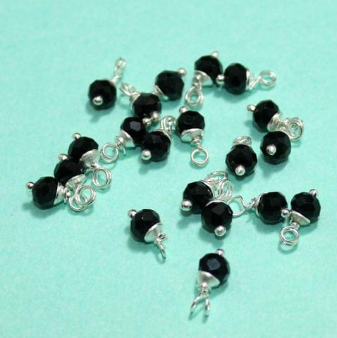 100 Pcs Black Faceted Loreal Beads Rondelle 8mm