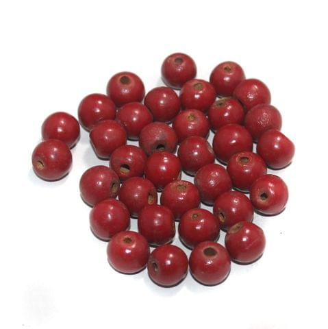 100 Pcs Round Vintage Wooden Beads, Size 14mm
