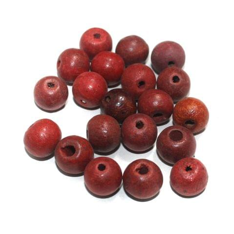100 Pcs Round Vintage Wooden Beads, Size 16mm