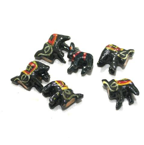 50 Pcs Elephant Wooden Beads, Size 0.5 Inches