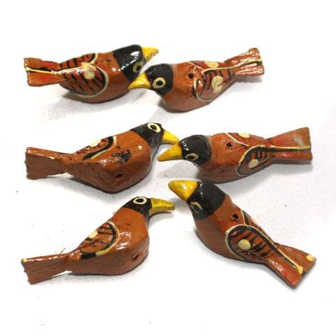 50 Pcs Birds Wooden Beads, Size 1.5 Inches