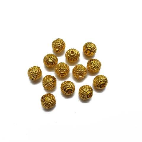 8mm, 30pcs, Designer Metal Beads