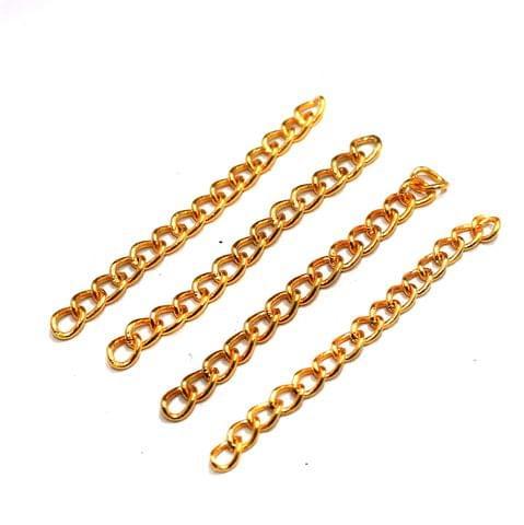 50 Pcs Metal Link Chain Extender Golden 2 Inch