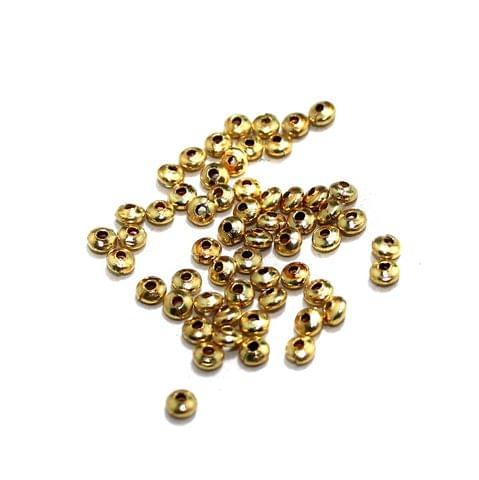 620 Pcs Brass Beads Golden, 4x3mm